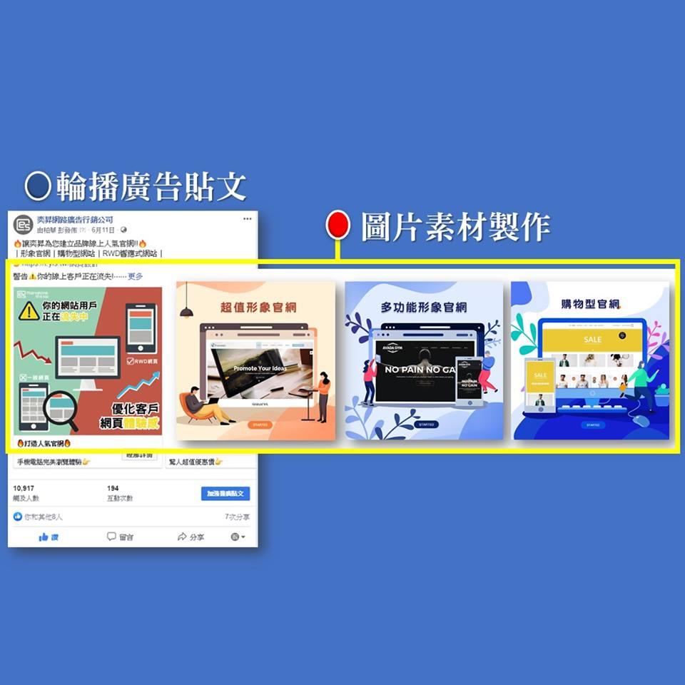 廣告圖片製作及廣告投放網頁設計
