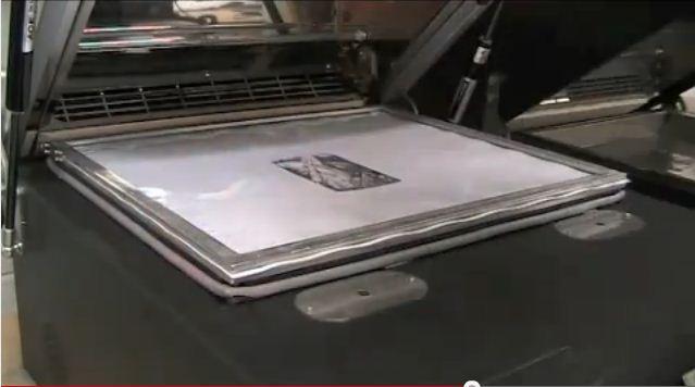 將列印好的熱昇華轉印膜放置好